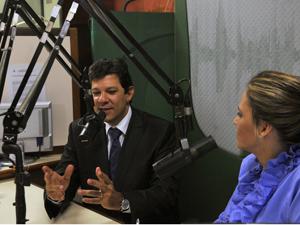 O ministro da Educação, Fernando Haddad, durante o programa Bom Dia Ministro. (Foto: Antonio Cruz/ABr)