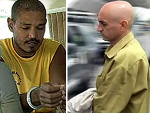 Hércules Araújo Agostinho e Célio Alves, pistoleiros em MT (Foto: Arquivo TVCA)