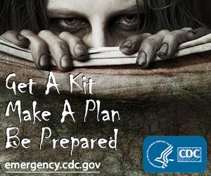 Peça da campanha de prevenção anti-zumbis, do CDC americano (Foto: (Foto: Reprodução))