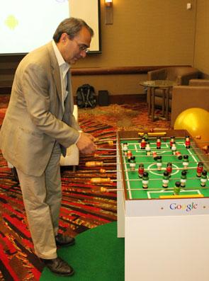 Alfred Spector, vice-presidente de engenharia do Google (Foto: Leopoldo Godoy/G1)