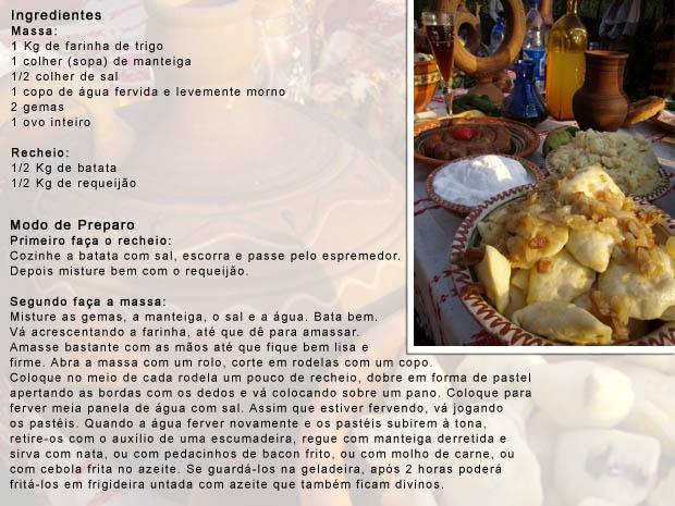 Veja como preparar Pierogi ucraniano. (Foto: G1 PR)