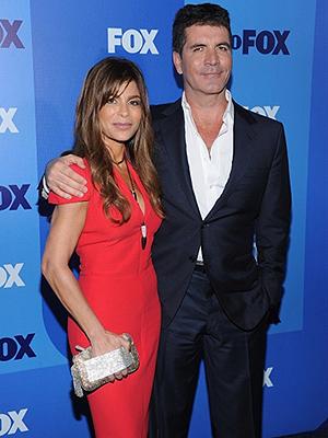 Simon Cowell e Paula Abdul divulgam 'The  X-factor' (Foto: AFP)