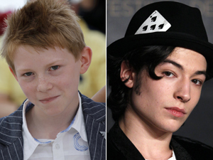 "Os moleques de Cannes: Thomas Doret de ""O garoto da bicicleta"" e Ezra Miller de ""We need to talk about Kevin. (Foto: Reuters)"