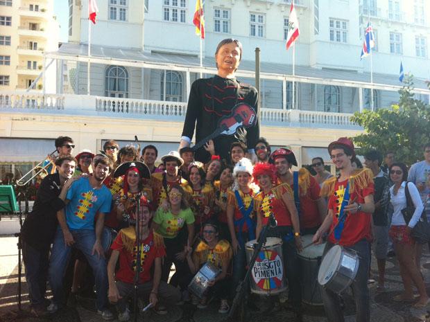 Sargento Pimenta no Copa Palace (Foto: Thamine Leta/G1)