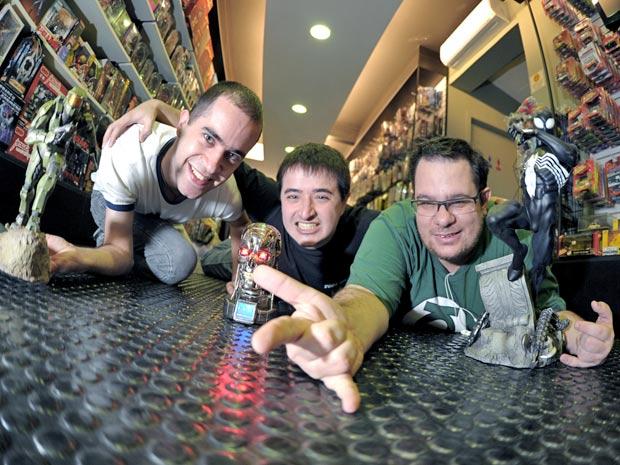 Bruno e colegas, do blog Nerddisse (Foto: Raul Zito/G1)