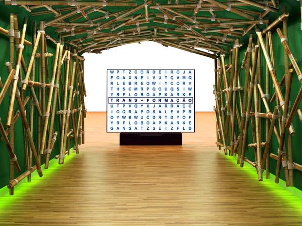 O túnel de bambu vai receber visitantes e empresários no Senac Rio Fashion Business (Foto: Divulgação)