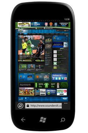 O Windows Phone 7 ganhou um navegador IE9 para celular (Foto: Divulgação)