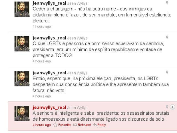 Deputado postou comentários no micro blog (Foto: Reprodução)