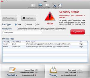 Software antivírus para Mac detecta pragas que não existem para assustar o usuário (Foto: Reprodução)