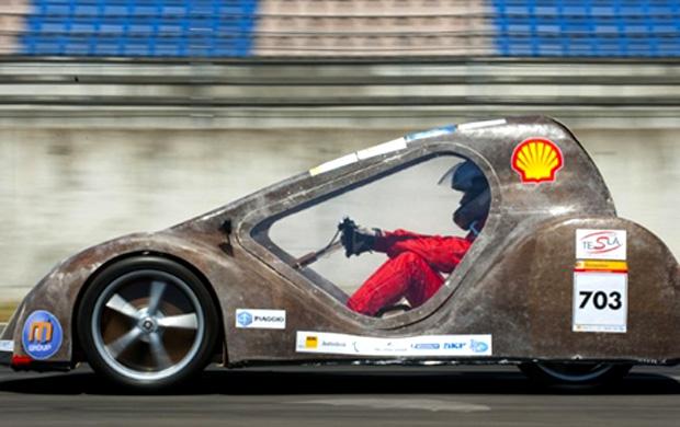 competição shell combustível carros Ecole des Mines d'Ales (France) (Foto: John MacDougall/AFP)