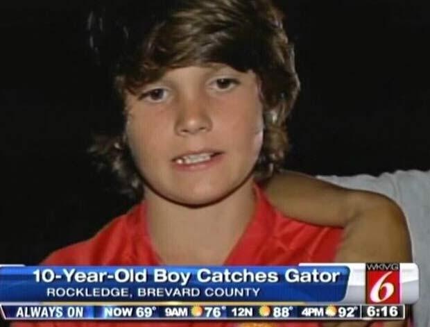 Michael Dashe estava pescando com amigos em canal na Flórida. (Foto: Reprodução)