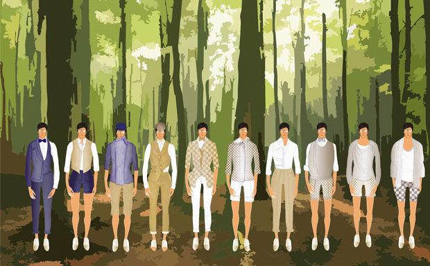 Coleção de Akihito Hira tem inspiração em camuflagem animal (Foto: Divulgação)