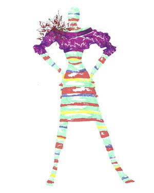 Carioca Brancheé inventou padroeira 'Nossa Senhora do Vestidinho' para inspirar coleção (Foto: Divulgação)