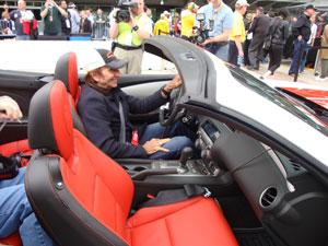 Emerson Fittipaldi no carro madrinha das 500 Milhas de Indanápolis (Foto: Priscila Dal Poggetto/G1)