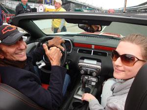 Repórter do G1 pegou carona no Camaro dirigido por Fittipaldi (Foto: Priscila Dal Poggetto/G1)