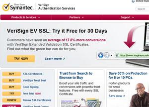 : Propaganda do EV-SSL, destinado a lojas on-line: veja o que a barra verde pode fazer por você. De graça por 30 dias (Foto: Reprodução)