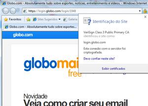 O cadeado de segurança nas páginas de internet, como ele normalmente se apresenta (Foto: Reprodução)