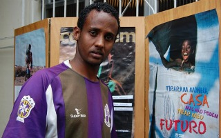 Refugiado somali vive hoje no Rio de Janeiro (Foto: ACNUR/J.Galvão)