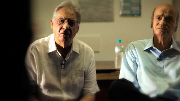 Fernando Henrique Cardoso e o médico Drauzio Varella em cena de 'Quebrando o tabu' (Foto: Divulgação/Spray Filmes)