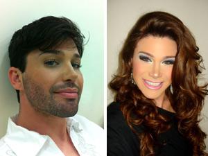 Junior se transforma em Sheila Xiss no Concurso Miss Gay RJ (Foto: Divulgação)