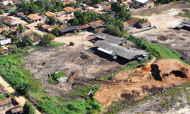 Madeireira em Nova Ipixuna fechada pelo Ibama. (Foto: Nelson Feitosa - Ibama/Divulgação)