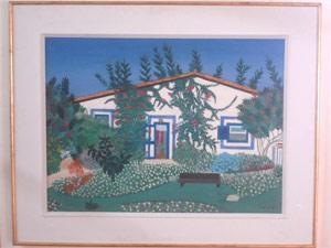 'Casa da Maluh em Búzios', pintura de Djanira que integra o acervo (Foto: Duda Pinto/G1)