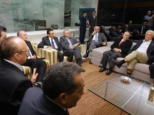 O vice-presidente da República Michel Temer reuniu os senadores da bancada do PMDB para um jantar na noite desta segunda-feira (30).. (Foto: Dida Sampaio/Agência Estado)