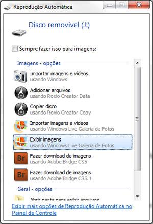 Janela de reprodução automática no Windows 7. Ela não aparece quando um arquivo é executado automaticamente (Foto: Reprodução)