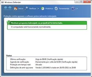 O Windows Defender é um antispyware e não possui todas as funções de um antivírus (Foto: Reprodução)