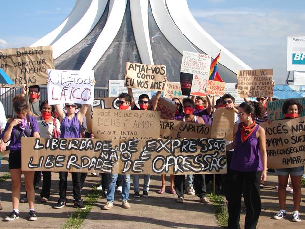 manifestação homofobia (Foto: Redação G1)