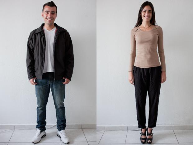 Rafael e Karen, segundo dia (Foto: Daigo Oliva/G1)