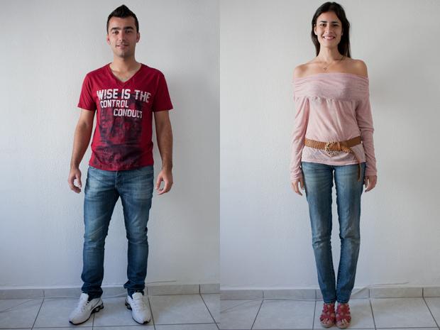 Rafael e Karen, terceiro dia (Foto: Daigo Oliva/G1)