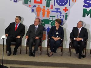 Presidente Dilma Rousseff e o vice-presidente Michel Temer durante cerimônia de lançamento do Plano de Superação da Extrema Pobreza - Brasil sem Miséria  (Foto: Roberto Stuckert Filho/PR)