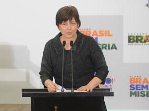 A ministra do Desenvolvimento Social, Tereza Campello, fala na cerimônia de lançamento do Plano Brasil sem Miséria (Foto: Wilson Dias/ABr)