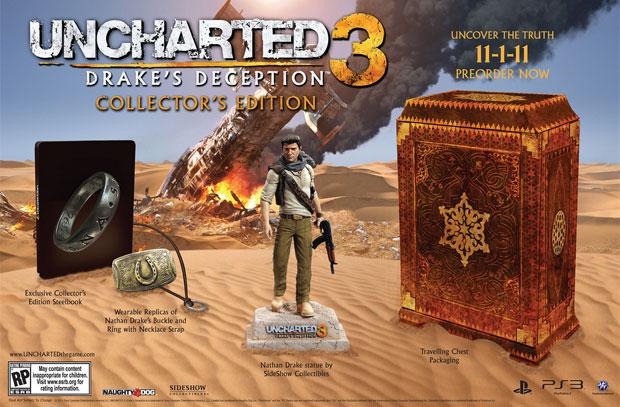 Edição de colecionador de Uncharted 3 (Foto: Divulgação)