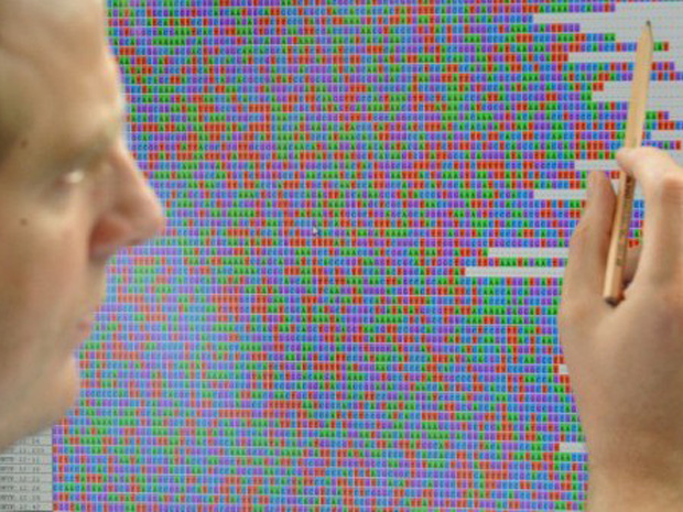 Código genético da bactéria E. coli (Foto: Marcus Brandt / AFP Photo)