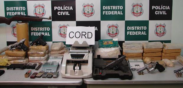 Cerca de R$ 600 mil em drogas foram apreendidas na operação Casa Nova 2 (Foto: G1 DF)
