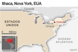 Mapa Ithaca (Foto: Arte / G1)