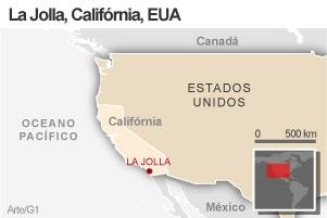 Mapa La Jolla (Foto: Arte / G1)