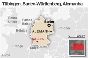 Mapa Tübingen (Foto: Arte / G1)