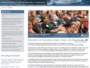 Site oficial do NSTIC, no Instituto Nacional de Normas e Tecnologia dos EUA (Foto: Reprodução)