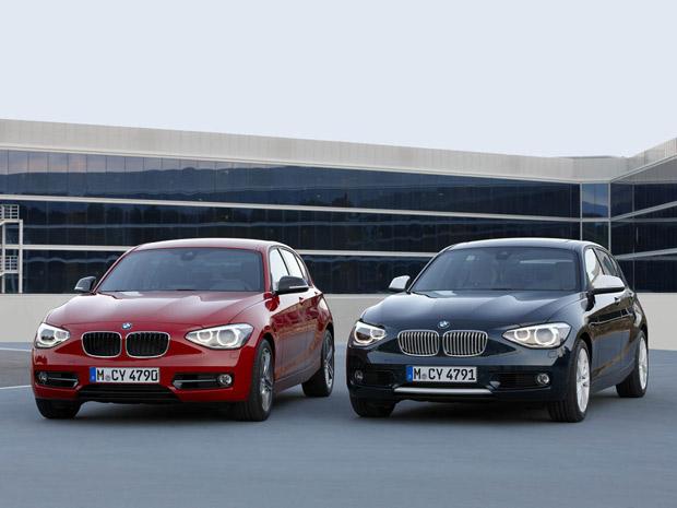 BMW Série 1 tem faróis grandes e vincos proeminentes (Foto: Divulgação)