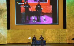 Jogo dos colehos doidos de 'Raving Rabbids' para o Kinect (Foto: Reprodução)