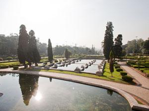 Jardins do Museu do Ipiranga (Foto: Daigo Oliva/G1)