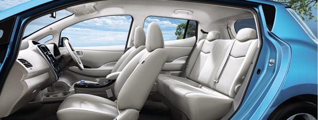 Nissan Leaf é confortável e tem bom acabamento (Foto: Divulgação)