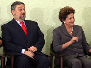 Antonio Palocci no último evento público do qual participou como ministro, ao lado da presidente Dilma Rousseff (Foto: André Dusek / Agência Estado)