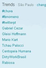 Trending Topics em SP às 13h18 (Foto: Reprodução)