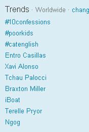 Trending Topics no Mundo,  11h54 (Foto: Reprodução)