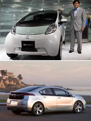 Mitsubishi i-Miev (acima) e Chevrolet Volt são os principais concorrentes do Leaf (Foto: Divulgação/AP)