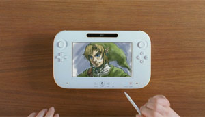 Controle novo do Wii, o Wii u, que imita um tablet (Foto: Reproduo)